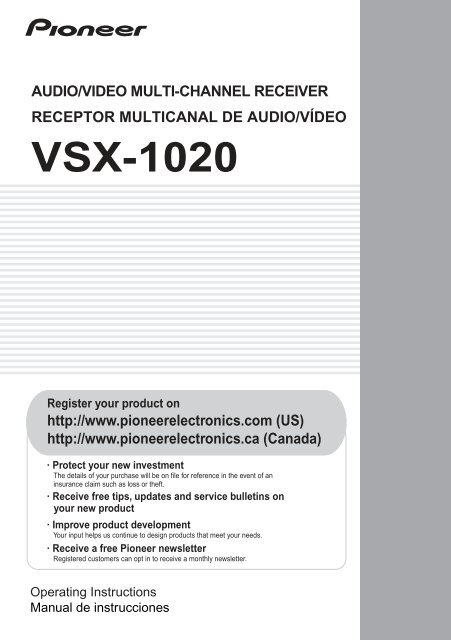 VSX-1020 - Pioneer Electronics