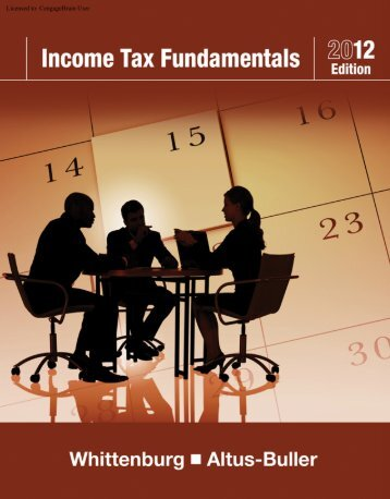 Income Tax Fundamentals 2012, 30th ed. - CengageBrain