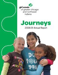 2008-09 Annual Report - Girl Scouts of Greater Chicago