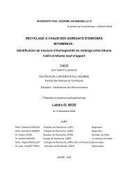 RECYCLAGE À CHAUD DES AGREGATS D'ENROBES ... - Cerege