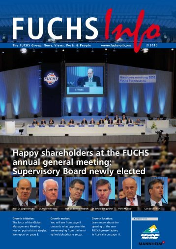 Happy shareholders at the FUCHS annual ... - fuchs petrolub ag