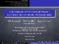 comparison between martingale methods and dynamic programming