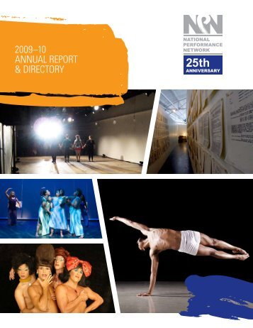 2009–10 annual report & directory - National Performance Network