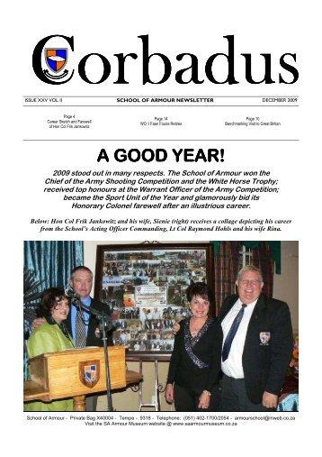 Corbadus Issue 25 Vol 2 December 2009 a.pub - SA Armour Museum
