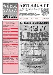 AMTSBLATT - der Verwaltungsgemeinschaft Würde-Salza - Steuden