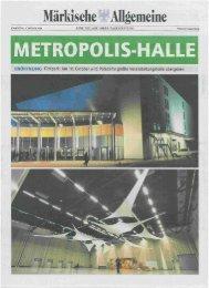 MAZ-Beilage zur Metropolis Halle