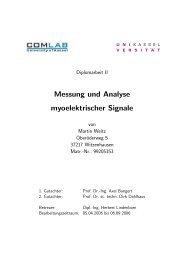 Messung und Analyse myoelektrischer Signale - Communications ...