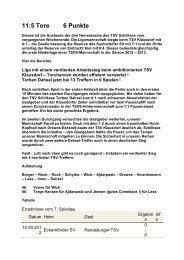 Newsletter 17.09.12 - I Mannschaft