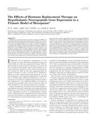 The Effects of Hormone Replacement Therapy on Hypothalamic ...