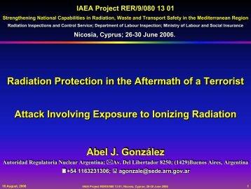 Abel J. González Abel J. González Radiation Protection in the ...
