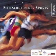Flyer der Berliner Eliteschulen des Sports zum herrunterladen