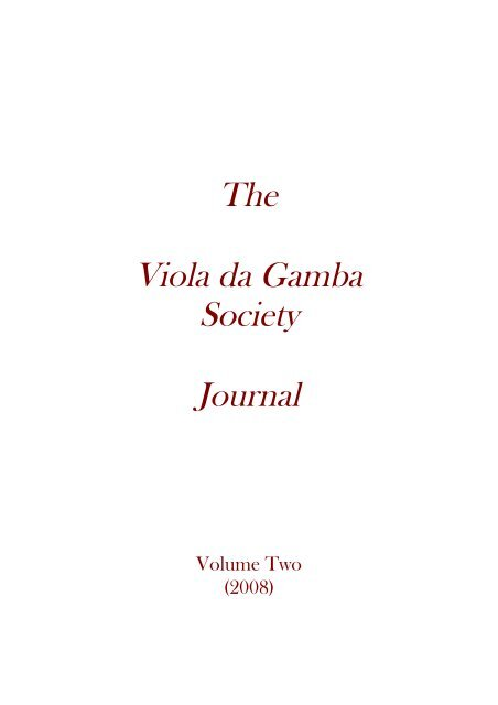 Download Pdf The Viola Da Gamba Society