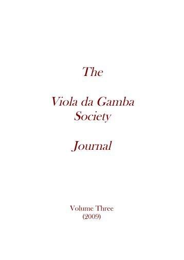 Jugendbewegung - The Viola da Gamba Society