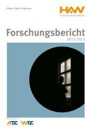 Forschungsbericht 2012/2013 - Technologiecampus Amberg-Weiden