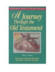 A Journey Through The Old Testament - Elmer Towns