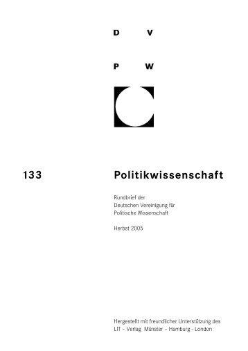Politikwissenschaft 133 - DVPW
