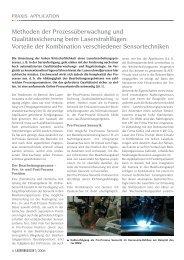 Vorteile der Kombination verschiedener Sensort - Laser Magazin