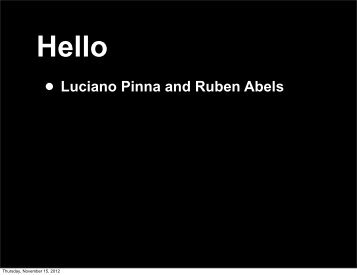 • Luciano Pinna and Ruben Abels