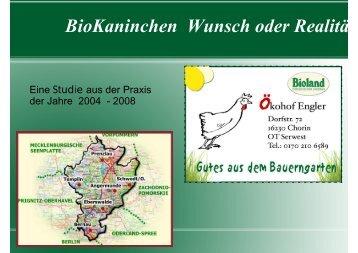 BioKaninchen Wunsch oder Realitä - (BUND) Sachsen