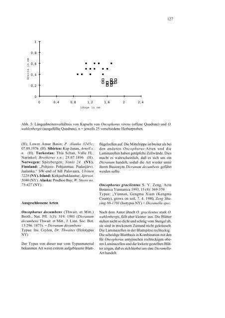 Revision der Gattung Oncophorus (Musci ... - Tropical Bryology