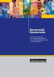 Hartmetall- Sonderteile - Gühring