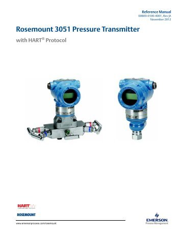 Manual: Rosemount 3051 Pressure Transmitter with HART® Protocol