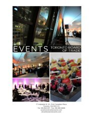 Event Package - Oliver & Bonacini Events