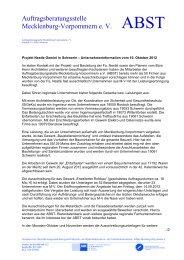 Auftragsberatungsstelle Mecklenburg-Vorpommern e. V. - ABST