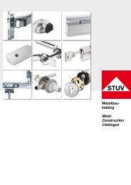 Metallbau- katalog Metal Construction Catalogue - Steinbach ...