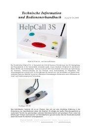 Technische Information und Bedienenerhandbuch Stand ... - Lifecall
