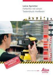 Leica Sprinter - AM-Laser und Baugeräte Handels GmbH