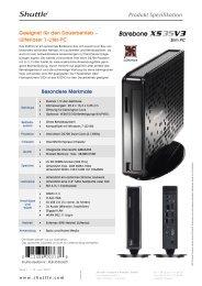 Produkt Spezifikation - Barebone-Konfigurator.de