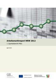 Arbeitsmarktreport NRW 2012 - Arbeitspolitik in Nordrhein-Westfalen