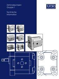 Zahnradpumpen Gruppe 1 Technische Information - Sauer-Danfoss