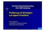 Profilierung mit Schnittgrün aus eigener Produktion (Helmut Eigemann