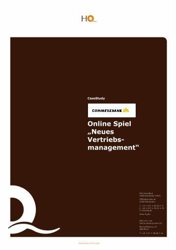"""Online Spiel """"Neues Vertriebs- management"""" - HQ.de"""