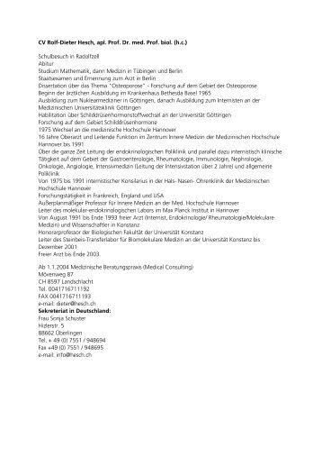 CV Dr. Hesch - Wolfsberg