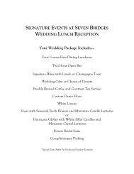 signature events at seven bridges wedding lunch reception menu ...