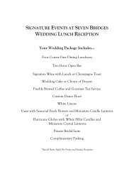 signature events at seven bridges wedding lunch reception menu ...