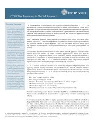 UCITS IV Risk Requirements: The VaR Approach - Western Asset