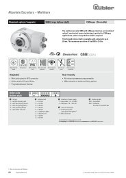 Absolute Encoders – Multiturn - Kübler