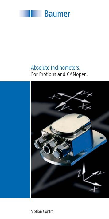 Absolute Inclinometers. For Profibus and CANopen. - Baumer
