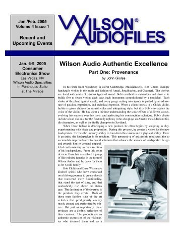 John Giolas: Telling the Story of High End - Wilson Audio