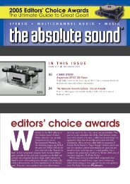 2005 Editors' Choice Awards - Grobel Audio
