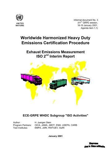 Worldwide Harmonized Heavy Duty Emissions ... - UNECE