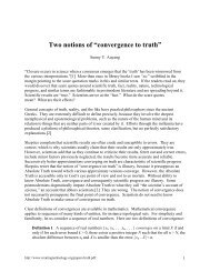 """Two notions of """"convergence to truth"""" - Creating technologies"""