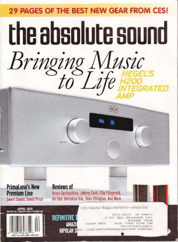 April 2011 – The Absolute Sound Review - Morel