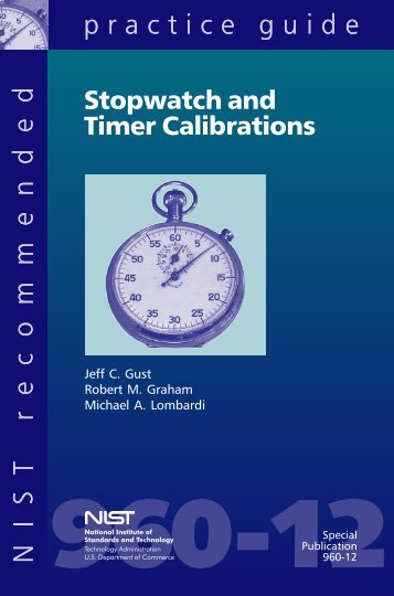 Stopwatch and Timer Calibrations - Aclass