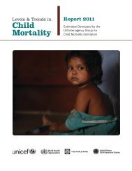 Levels and Trends in Child Mortality, Report 2011 - Childinfo.org