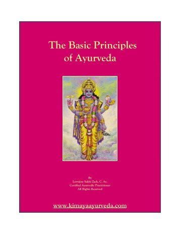 The Basic Principles of Ayurveda - Get a Free Blog